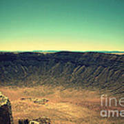 The Meteor Crater In Az 4 Poster