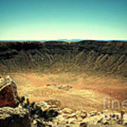 The Meteor Crater In Az Poster