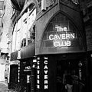 The New Cavern Club In Mathew Street In Liverpool City Centre Birthplace Of The Beatles Poster