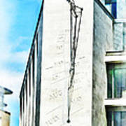 The Noon Sundial At The London Stock Exchange Poster