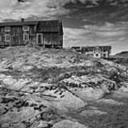 The Old Fisherman's Hut Bw Poster by Heiko Koehrer-Wagner