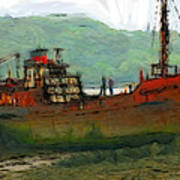 The Old Fishing Trawler Poster