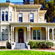 The Old Victorian Camron-stanford House In Oakland California . 7d13440 Poster by Wingsdomain Art and Photography