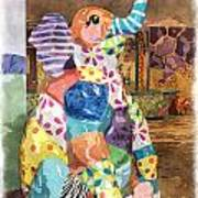 The Patchwork Elephant Art Poster