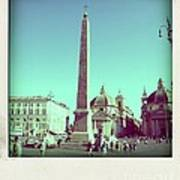 The Piazza Del Popolo. Rome Poster