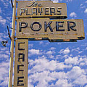 The Players Poker Cafe Poster by Ron Regalado