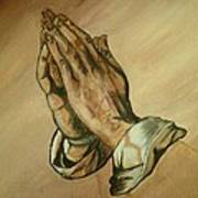 The Praying Hands Poster