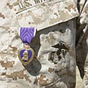 The Purple Heart Award Hangs Poster by Stocktrek Images