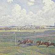 The Racecourse At Boulogne-sur-mer Poster