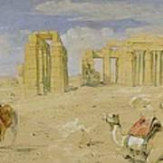 The Ramesseum At Thebes Poster