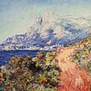 The Red Road Near Menton Poster