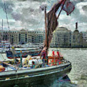 The Sailing Barge Lady Daphne Poster