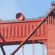 The San Francisco Golden Gate Bridge - 7d19108 Poster by Wingsdomain Art and Photography