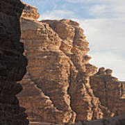The Sandstone Cliffs Of The Wadi Rum Poster
