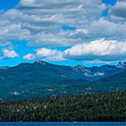 The Selkirk Mountains Of Priest Lake Poster