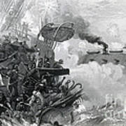 The Sinking Of The Cumberland, 1862 Poster by Photo Researchers
