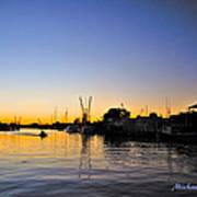 The Sponge Docks After  Sunset Poster