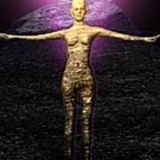 The Stoneborn Priestess Of Khufu Poster