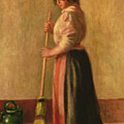 The Sweeper Poster by Pierre Auguste Renoir