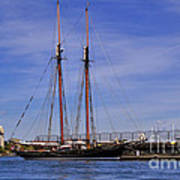 The Tall Ship Pacific Grace Based In Victoria Canada Poster by Louise Heusinkveld