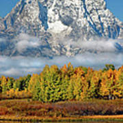 The Tetons In Autumn Poster