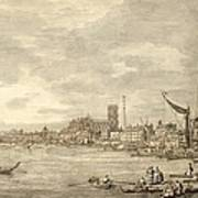The Thames Looking Towards Westminster From Near York Water Gate  Poster by Giovanni Antonio Canaletto