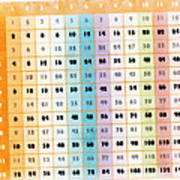 The Times Table Poster