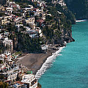 The Town Of Positano Poster