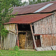 Leaning Barn Poster