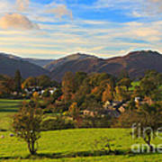 The Village Of Watermillock In Cumbria Uk Poster
