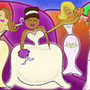 The Wedding Party Poster by Melisa Meyers