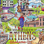 The Who What And Where Of Athens Alabama Poster by Shawn Doughty