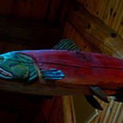 The Wooden Rainbow Trout Poster