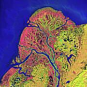 The Yukon Delta In Southwest Alaska Poster