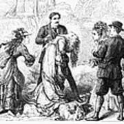 Theater: False Shame, 1872 Poster
