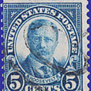 Theodore Roosevelt Postage Stamp Poster