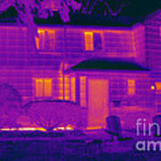 Thermogram Of A Home In Winter Poster