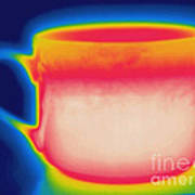 Thermogram Of A Hot Coffee Cup Poster