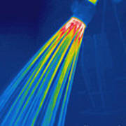 Thermogram Of A Shower Head Poster