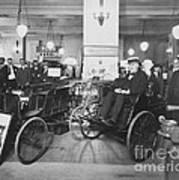 Thomas Edison In Quadricycle Poster