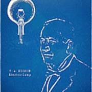 Thomas Edison Lightbulb Patent Artwork Poster