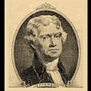 Thomas Jefferson In Sepia Poster