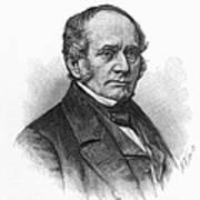Thomas O. Larkin (1802-1858). American Merchant And California Pioneer. Wood Engraving, 19th Century Poster