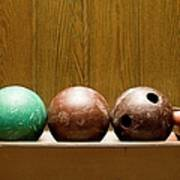 Three Bowling Balls Poster