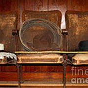 Three Hats A Lasso And A Cane At The Old Movie Theater . 7d12726 Poster by Wingsdomain Art and Photography