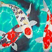 Three Koi Poster by Daniel Jean-Baptiste