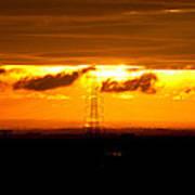 Three-tier Sunset Poster