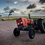 Three Wheeled Tractor Poster