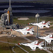 Thunderbirds Fly Past Endeavour Poster