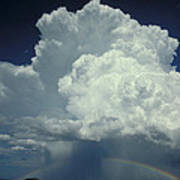 Thunderclouds And Rinbow Poster